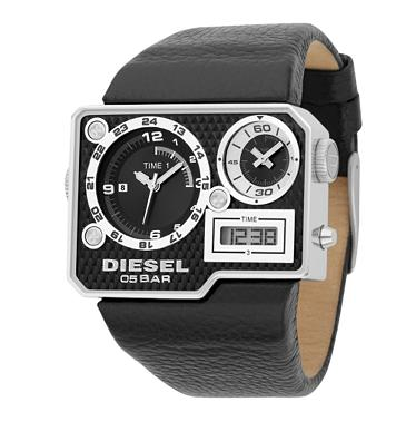 The Diesel watch with 3 clocks on it! Yep that's right it's got two analog ...